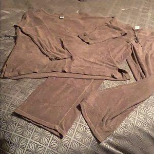 Plush terry pajamas/lounge set (S) from Natori